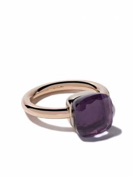 Pomellato кольцо Nudo из белого и розового золота с аметистом AA110O6OI