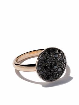 Pomellato 18kt rose gold Sabbia black diamond ring AB204O7BB