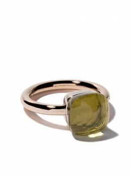 Pomellato кольцо Nudo из белого и розового золота с кварцем AA110O6QL