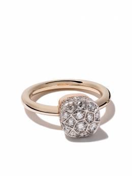 Pomellato кольцо Nudo Solitaire из розового золота с бриллиантами AB501O6B9