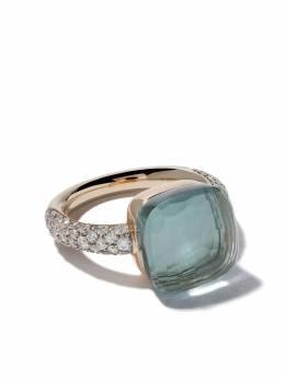 Pomellato 18kt rose & white gold small Nudo topaz & diamond ring AB401B9O6OY