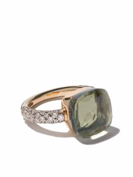 Pomellato 18kt rose & white gold Nudo prasiolite & diamond ring AB401B9O6PA
