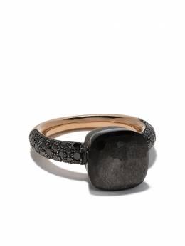 Pomellato кольцо из титана и золота Nudo с обсидианом и бриллиантом AB905BBT7OSS