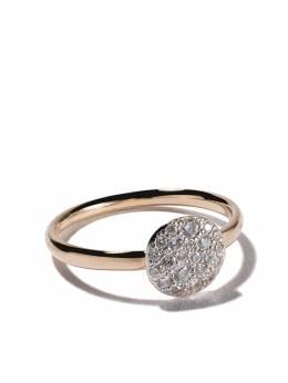 Pomellato кольцо Sabbia из розового золота с бриллиантами AB407O7B9