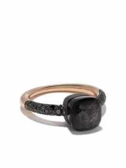 Pomellato кольцо из золота и титана Nudo с обсидианом и бриллиантами AB704BBT7OSS