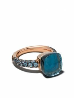 Pomellato золотое кольцо Nudo с топазом и бирюзой AB904O6TLTTB