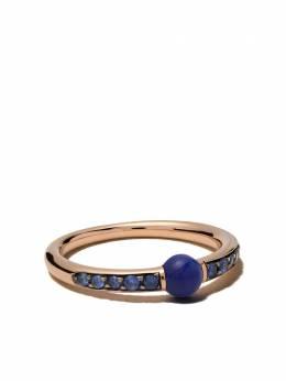 Pomellato золотое кольцо M'ama non m'ama с лазуритом и сапфиром AB909O7ZAL