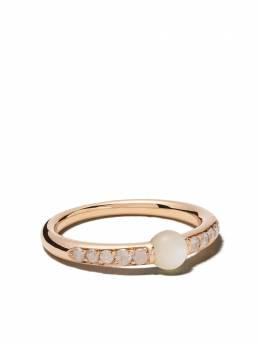 Pomellato кольцо M'ama non M'ama из розового золота с бриллиантами и жемчугом AB909BI7MP