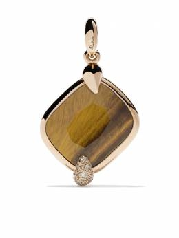 Pomellato 18kt rose gold Ritratto tiger eye and diamond pendant MB713MBR7TI