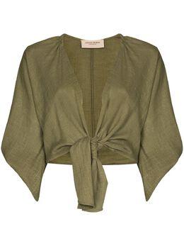 Adriana Degreas укороченная блузка с завязками CAAF0117R21