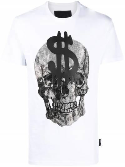 Philipp Plein футболка с кристаллами A20CMTK5131PJY002N - 1