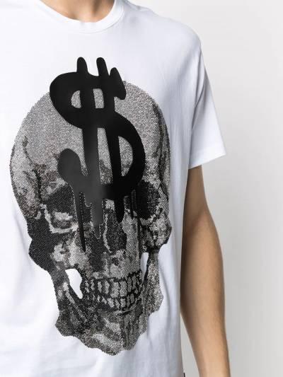 Philipp Plein футболка с кристаллами A20CMTK5131PJY002N - 5