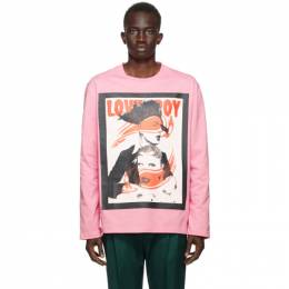 Charles Jeffrey Loverboy Pink Wink Long Sleeve T-Shirt CJLPS21GLST