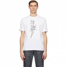 Neil Barrett White Scribble Bolt T-Shirt BJT882S P519P