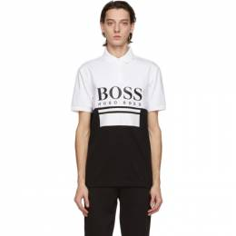 Boss by Hugo Boss White and Black Pavel Polo 50435438