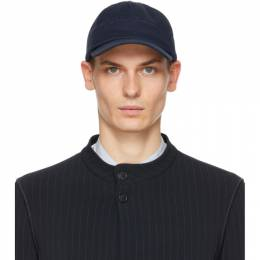 Giorgio Armani Navy Embroidered Cap 747376 0A500