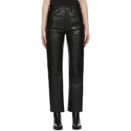 Agolde Black Recycled Leather 90s Pinch Pants A164-1285