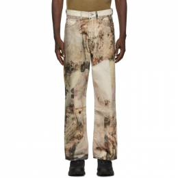 Our Legacy Multicolor Pierro Carvings Third-Cut Jeans M420TPC