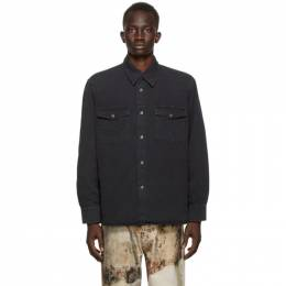 Our Legacy Black Denim New Frontier Shirt M4202LBD