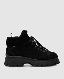 Черные замшевые ботинки на меху Miu Miu 2300006437588