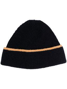 Ymc шапка бини в рубчик с контрастной окантовкой PHPAK