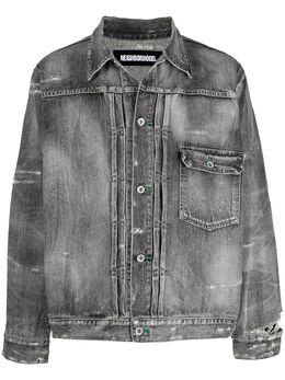 Neighborhood джинсовая куртка с эффектом потертости 202XBNHJKM02