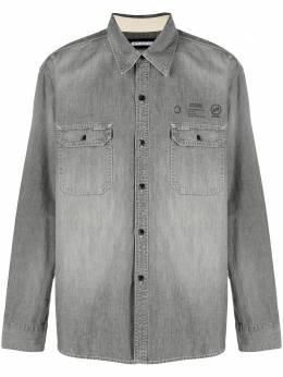 Neighborhood рубашка Savage из ткани шамбре 202YTNHSHM01