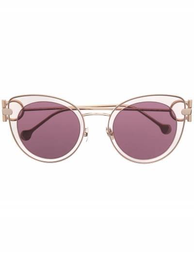 Salvatore Ferragamo cat-eye outer round-frame sunglasses SF182S640 - 1