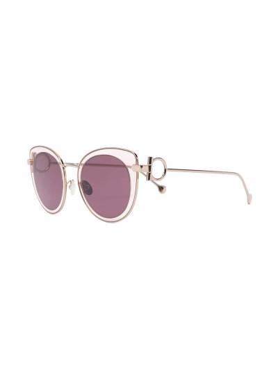 Salvatore Ferragamo cat-eye outer round-frame sunglasses SF182S640 - 2