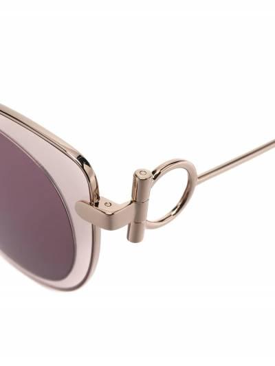 Salvatore Ferragamo cat-eye outer round-frame sunglasses SF182S640 - 3