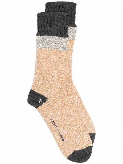 Ymc меланжевые носки из коллаборации с Corgi QPPAA - 1
