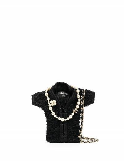Chanel Pre-Owned мини-сумка через плечо с кружевом PROTOMINIJACKET - 1
