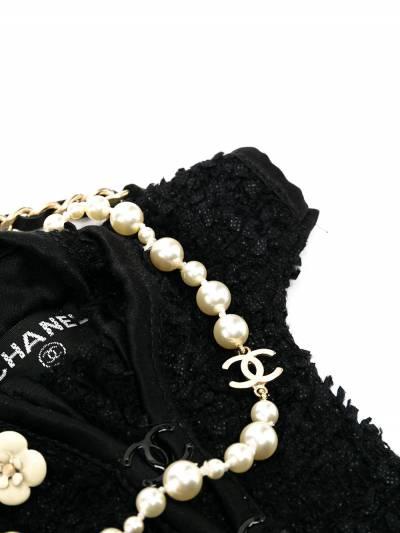 Chanel Pre-Owned мини-сумка через плечо с кружевом PROTOMINIJACKET - 3