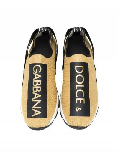 Dolce & Gabbana Kids слипоны с принтом логотипа DA0660AZ28887530T - 3