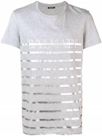 Balmain футболка с полосками W8H8601I354CO172 - 1