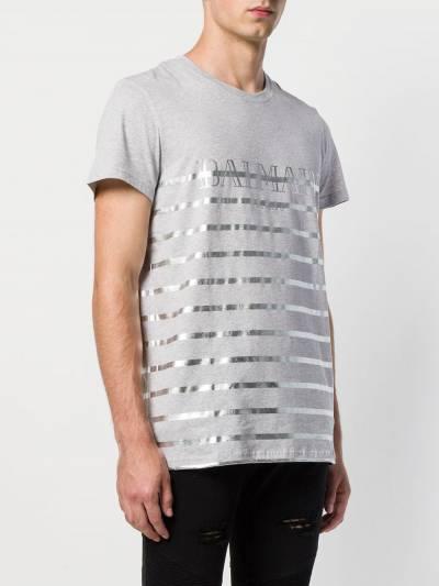 Balmain футболка с полосками W8H8601I354CO172 - 3