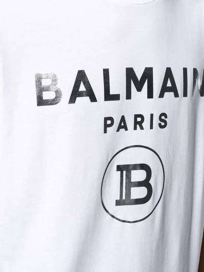 Balmain футболка с логотипом VH1EF000B066 - 5