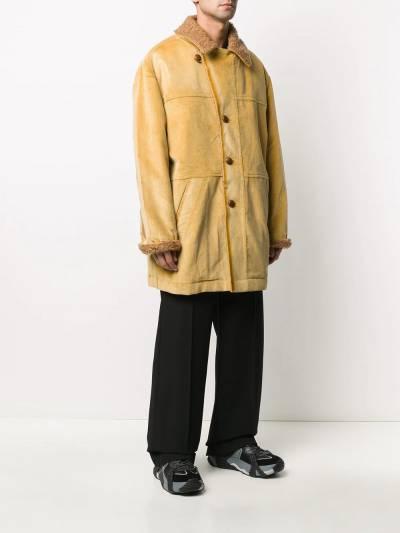 Marni corduroy single breasted coat TUMU0074QUS49356 - 3
