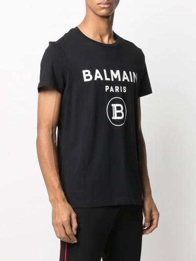 Balmain футболка с логотипом VH1EF000B029 - 3