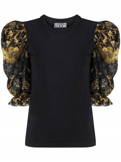 Versace Jeans Couture топ с пышными рукавами и принтом Baroque EB2HZB707ES0876 - 1