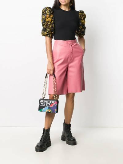 Versace Jeans Couture топ с пышными рукавами и принтом Baroque EB2HZB707ES0876 - 2