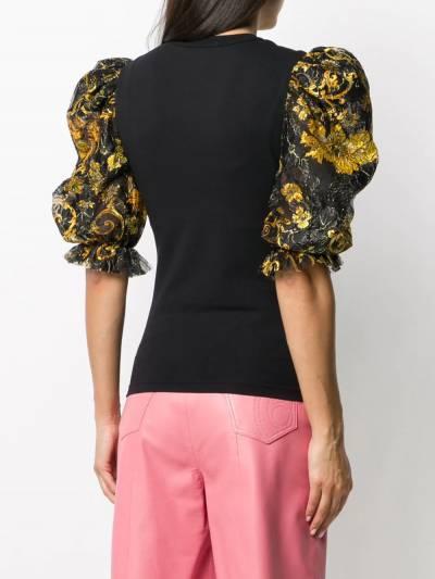 Versace Jeans Couture топ с пышными рукавами и принтом Baroque EB2HZB707ES0876 - 4