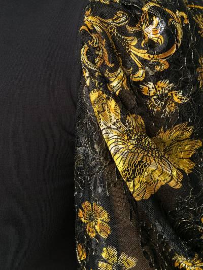 Versace Jeans Couture топ с пышными рукавами и принтом Baroque EB2HZB707ES0876 - 5