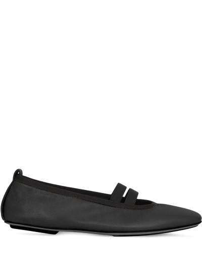 Burberry logo-detail ballerina shoes 8037273 - 1