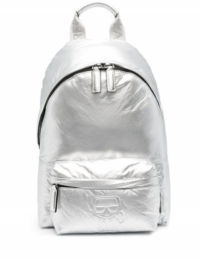 Karl Lagerfeld K/Ikonik metallic backpack 210W3008290 - 1