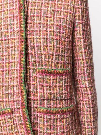 Chanel Pre-Owned твидовый жакет без воротника WOOLMULTICOLOR - 5