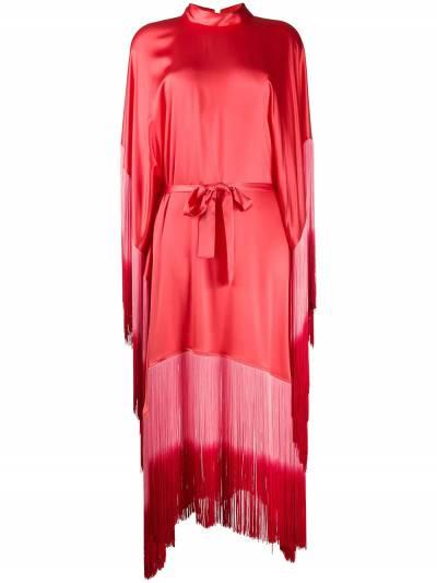 Taller Marmo платье Grenadine с бахромой и эффектом омбре TMSS2027A - 1