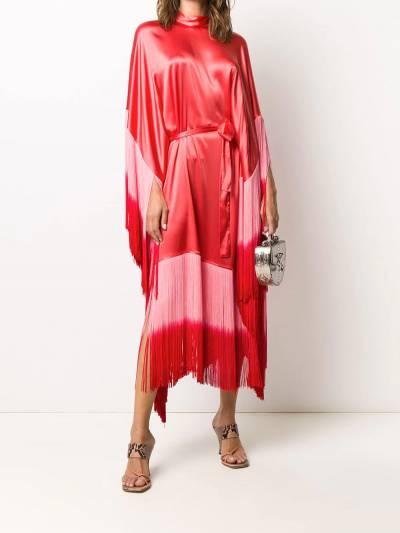 Taller Marmo платье Grenadine с бахромой и эффектом омбре TMSS2027A - 2
