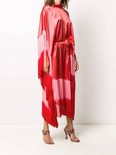 Taller Marmo платье Grenadine с бахромой и эффектом омбре TMSS2027A - 3
