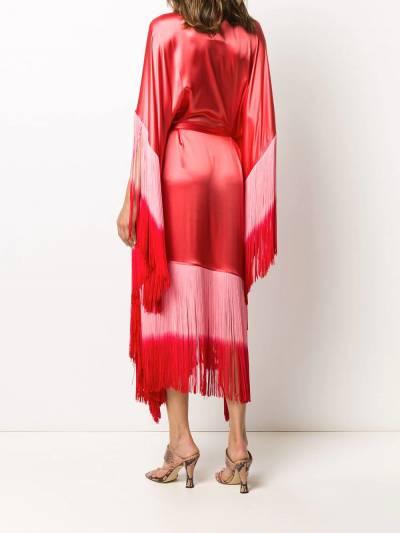 Taller Marmo платье Grenadine с бахромой и эффектом омбре TMSS2027A - 4